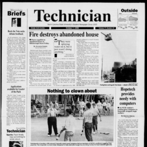Technician, Vol. 77 No. 19, October 7, 1996