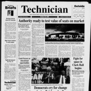 Technician, Vol. 77 No. 26, October 25, 1996