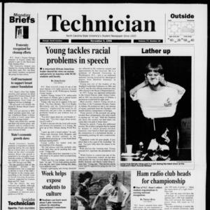 Technician, Vol. 77 No. 30, November 4, 1996