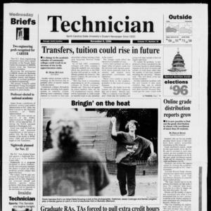 Technician, Vol. 77 No. 31, Elections '96, November 6, 1996