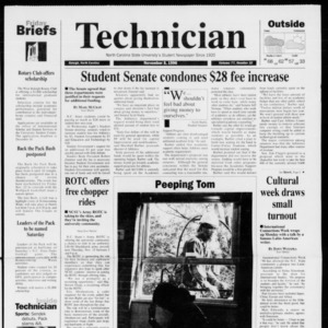 Technician, Vol. 77 No. 32, November 8, 1996