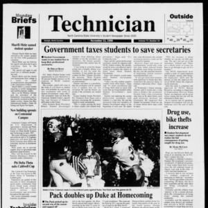 Technician, Vol. 77 No. 33, November 11, 1996