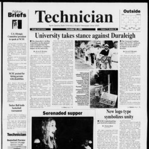 Technician, Vol. 77 No. 38, November 22, 1996
