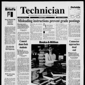 Technician, Vol. 77 No. 43, January 8, 1997