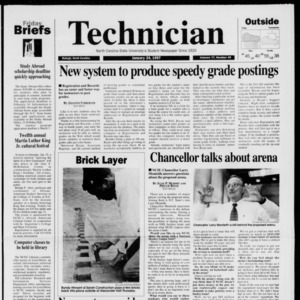 Technician, Vol. 77 No. 49, January 24, 1997