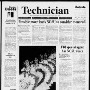 Technician, Vol. 77 No. 53, February 3, 1997