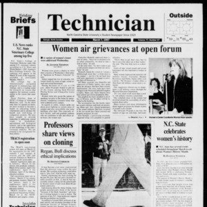 Technician, Vol. 77 No. 67, March 7, 1997
