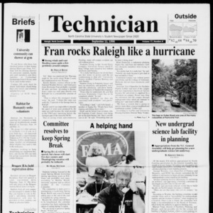 Technician, Vol. 77 No. 8, September 11, 1996