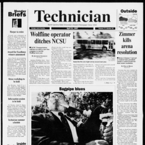 Technician, Vol. 77 No. 82, April 21, 1997