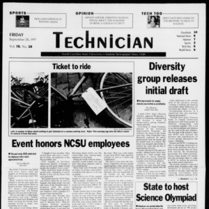 Technician, Vol. 78 No. 18, September 26, 1997