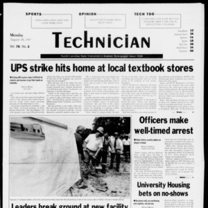 Technician, Vol. 78 No. 2, August 18, 1997
