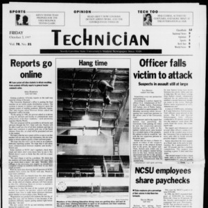 Technician, Vol. 78 No. 21, October 3, 1997