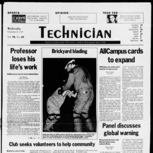 Technician, Vol. 78 No. 23, October 8, 1997