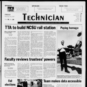 Technician, Vol. 78 No. 24, October 10, 1997