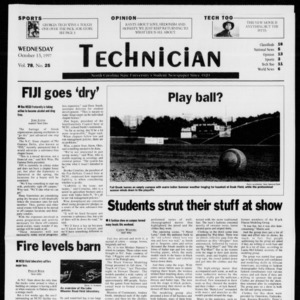Technician, Vol. 78 No. 25, October 15, 1997