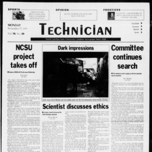 Technician, Vol. 78 No. 36, November 17, 1997