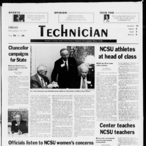 Technician, Vol. 78 No. 38, November 14, 1997