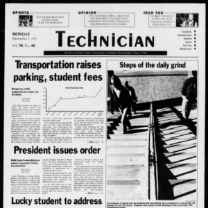 Technician, Vol. 78 No. 44, December 1, 1997