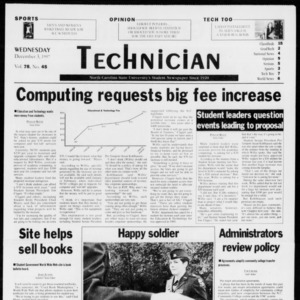 Technician, Vol. 78 No. 45, December 3, 1997