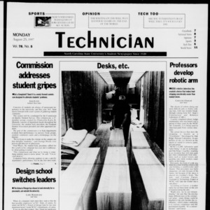 Technician, Vol. 78 No. 5, August 25, 1997