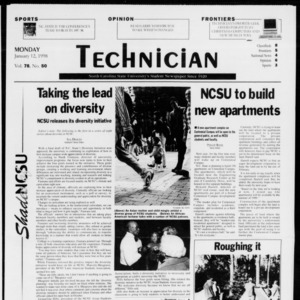 Technician, Vol. 78 No. 50, January 12, 1998