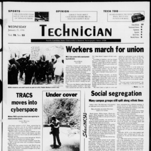 Technician, Vol. 78 No. 53, January 21, 1998