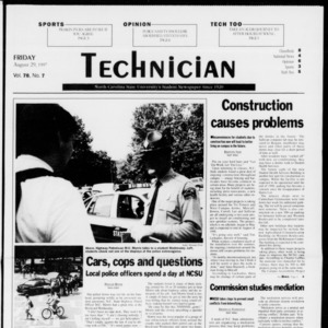 Technician, Vol. 78 No. 7, August 29, 1997