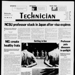 Technician, Vol. 78 No. 8, September 3, 1997