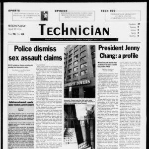 Technician, Vol. 78 No. 85, April 22, 1998