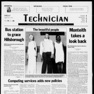 Technician, Vol. 78 No. 86, April 24, 1998