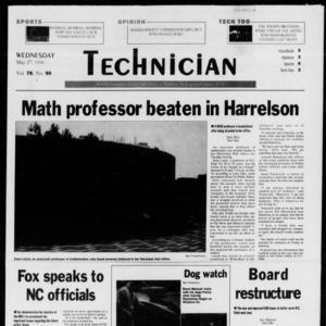 Technician, Vol. 78 No. 90, May 27, 1998