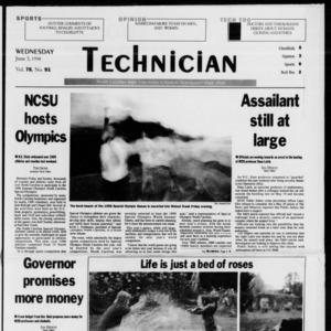 Technician, Vol. 78 No. 91, June 3, 1998