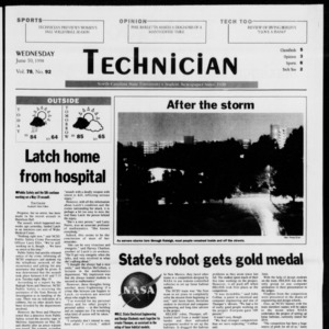Technician, Vol. 78 No. 92, June 10, 1998