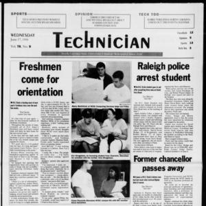 Technician, Vol. 78 No. 9 [Vol. 79 No. 9], June 17, 1998