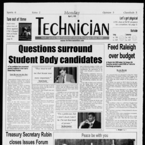 Technician, Vol. 79 No. 105, April 5, 1999
