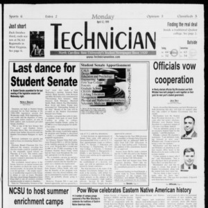 Technician, Vol. 79 No. 109, April 12, 1999