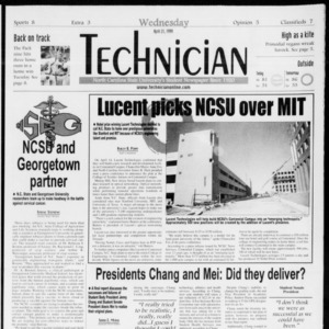 Technician, Vol. 79 No. 114, April 21, 1999
