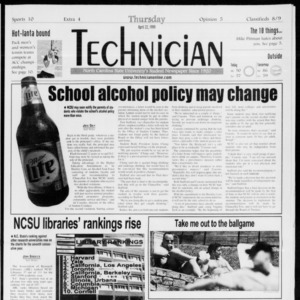 Technician, Vol. 79 No. 115, April 22, 1999