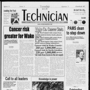 Technician, Vol. 79 No. 117, April 27, 1999