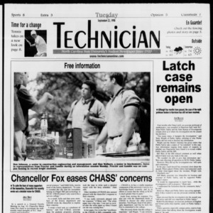Technician, Vol. 79 No. 21, September 22, 1998