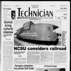 Technician, Vol. 79 No. 25, September 29, 1998