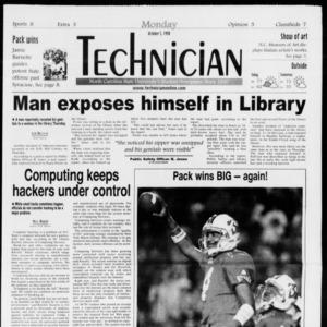 Technician, Vol. 79 No. 28, October 5, 1998