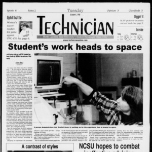 Technician, Vol. 79 No. 29, October 6, 1998