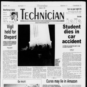 Technician, Vol. 79 No. 37, October 22, 1998