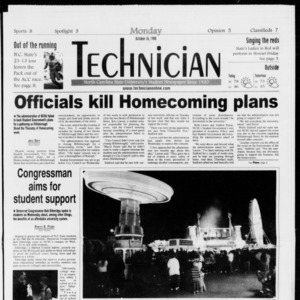 Technician, Vol. 79 No. 38, October 26, 1998