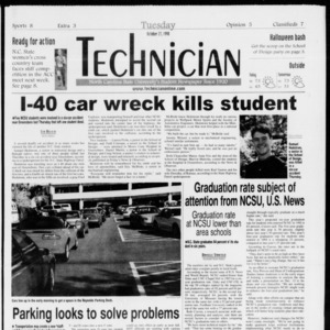 Technician, Vol. 79 No. 39, October 27, 1998
