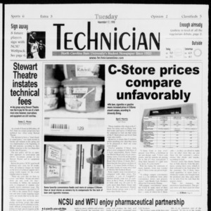 Technician, Vol. 79 No. 51, November 17, 1998