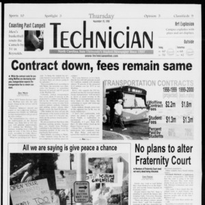 Technician, Vol. 79 No. 53, November 19, 1998
