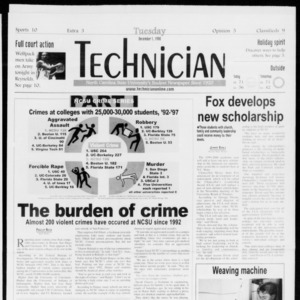 Technician, Vol. 79 No. 58, December 1, 1998