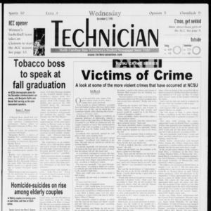 Technician, Vol. 79 No. 59, December 2, 1998